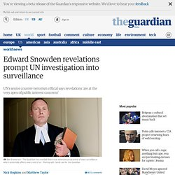 Edward Snowden revelations prompt UN investigation into surveillance