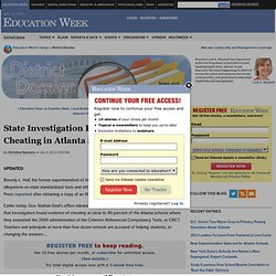 State Investigation Reveals Widespread Cheating in Atlanta Schools - District Dossier