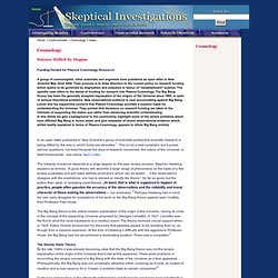 Skeptical Investigations - Controversies - Cosmology - index