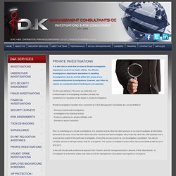 Criminal Investigations Private