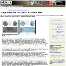 USGS Scientific Investigations Map 3316: Image Mosaic and Topographic Map of the Moon