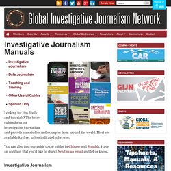 Investigative Journalism Manuals