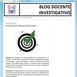 Blog Docente - Investigativo: EFICACIA, EFICIENCIA, EFECTIVIDAD