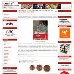 Investiguem a Educació Infantil i Cicle Inicial de Primària (Proposta 8 - Febrer 2015)