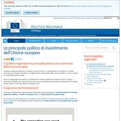 La principale politica di investimento dell'Unione europea - Politica regionale - Commissione europea - UE