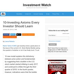 10-Investing Axioms Every Investor Should Learn