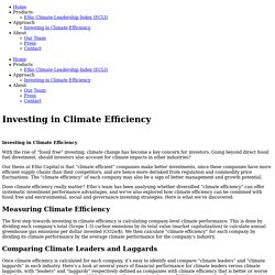 Investing in Climate Efficiency — Etho Capital
