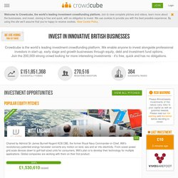 business finance, online investing, crowdfunding for equity : Crowdcube