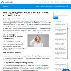 Things to know before investing in cryptocurrencies in Australia