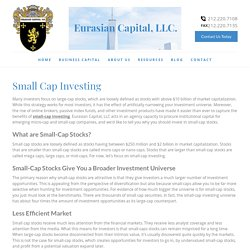 Small Cap Investing & Stocks Firm