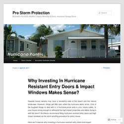 Why Investing In Hurricane Resistant Entry Doors & Impact Windows Makes Sense