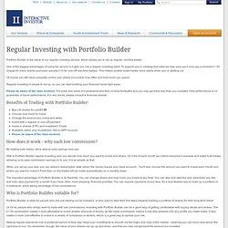 Regular Investing with Portfolio Builder
