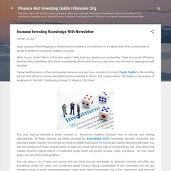 Increase Investing Knowledge With Newsletter