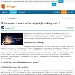 Invest in Professional Internet Marketing Services