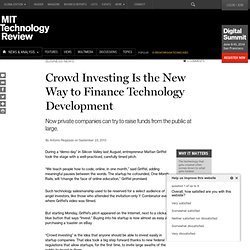 Crowd Investing Sites Start Offering Shares in Startups