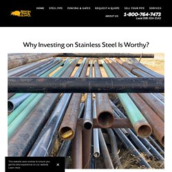 Why Investing on Stainless Steel Is Worthy?