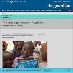 Why investing in education for girls is in everyone's interest