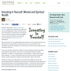 Investing in Yourself: Mental and Spiritual Health