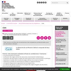CléA - plan d'investissement dans les compétences