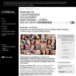 Semaine de l'Investissement Socialement Responsable : L'Oréal reçoit deux distinctions