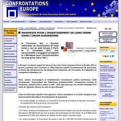 Manifeste pour l'investissement de long terme dans l'Union européenne