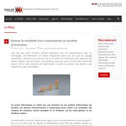 investissement en système d'information, retour sur investissement, SI,ERP