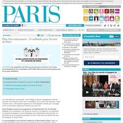 Plan d'investissement : 10 milliards pour l'avenir de Paris