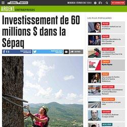 Investissement de 60 millions $ dans la Sépaq