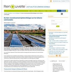 Du tiers-investissement photovoltaïque sur les toitures communales