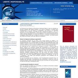 « FAIRE REPARTIR L'INVESTISSEMENT PRODUCTIF »
