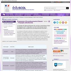 """Actualités du numérique - Programme d'Investissements d'Avenir : 10 projets sélectionnés en """"e-éducation - apprentissages fondamentaux à l'École"""""""