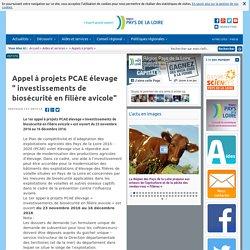"""PCAE élevage """" investissements de biosécurité en filière avicole"""""""