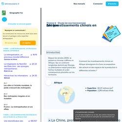 Les investissements chinois en Afrique