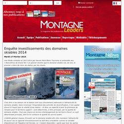Enquête investissements des domaines skiables 2014