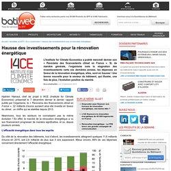 Hausse des investissements pour la rénovation énergétique - 12/12/16
