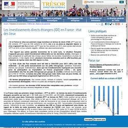 Les investissements directs étrangers (IDE) en France : état des lieux