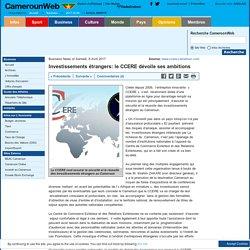 Investissements étrangers: le CCERE dévoile ses ambitions