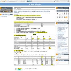 Choix des investissements et du financement Exercices corrigés - le blog gestionfi