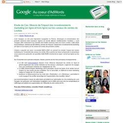 Mesure de l'impact des investissements marketing (en ligne et hors ligne) sur les canaux de ventes de Lookéa
