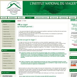 Le viager | L'institut national du viager | Investissements placements conseils en viagers