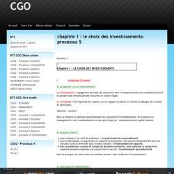 chapitre 1 : le choix des investissements- processus 5
