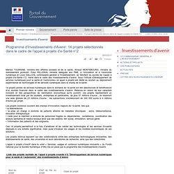 Programme d'Investissements d'Avenir: 14 projets sélectionnés dans le cadre de l'appel à projets d'e-Santé n°2