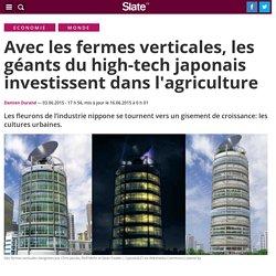 Avec les fermes verticales, les géants du high-tech japonais investissent dans l'agriculture