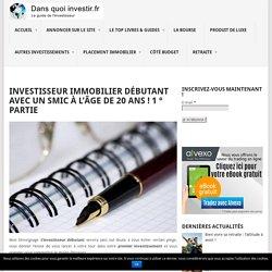 Investisseur Immobilier Débutant Avec Un SMIC ! 1 ° Partie - Dans-quoi-investir.fr