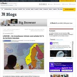 LOUCHE – Un investisseur chinois veut acheter 0,3 % du territoire islandais
