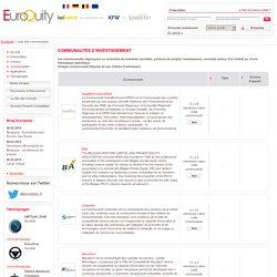 EuroQuity, service Bpifrance de mise en relation sociétés investisseurs - Liste des communautés