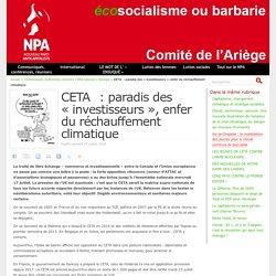 CETA : paradis des « investisseurs », enfer du réchauffement climatique