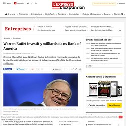 Warren Buffet investit 5 milliards dans Bank of America