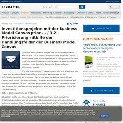 Investitionsprojekte mit der Business Model Canvas prior ... / 3.2 Priorisierung mithilfe der Handlungsfelder der Business Model Canvas