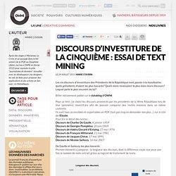 (french) Discours d'investiture de la cinquième : essai de text mining